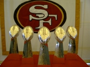 49ers super bowl trophies