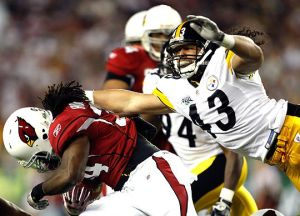 Troy Polamalu Super Bowl Tackle